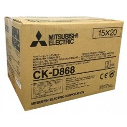 "Mitsubishi D80 4x6/6x8"" Paper and Ribbon Print Kit (CK-D868)"