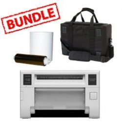 Mitsubishi CP-D80DW Printer Media Roll and Carry Case Bundle