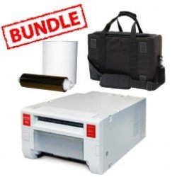 Mitsubishi CP-K60DW-S Printer Media Roll and Carry Case Bundle