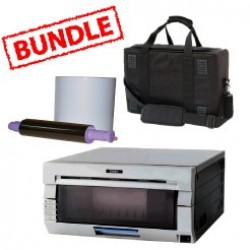DNP DS40 Printer Media Roll and Carry  Case Bundle