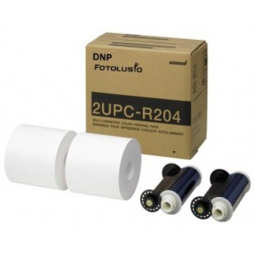 "DNP / Sony UP-DR200 and UP-CR20L 4x6"" Print Kit (2UPCR204)"
